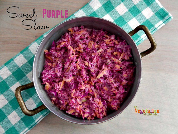 Sweet Purple Slaw #glutenfree #vegan from @vegetarianmamma.com