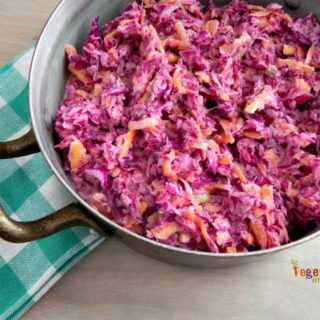 Sweet Purple Coleslaw – add a splash of color to your table