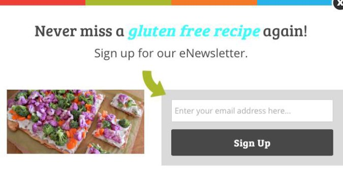 Optinmonster Grow your email list @vegetarianmamma.com