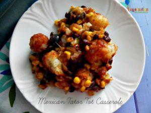 Mexican Tator Tot Casserole @vegetarianmamma.com #glutenfree