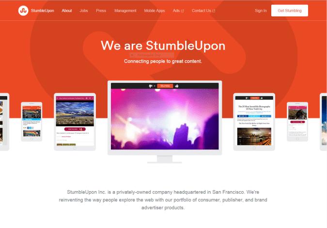 StumbleUpon #1