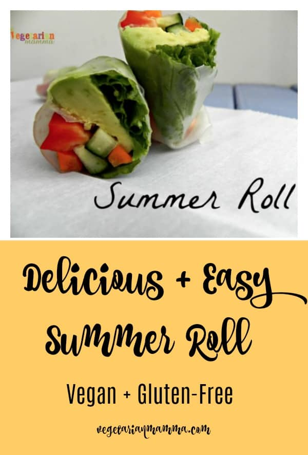 Whether you call it a Summer Roll or a Spring Roll, this makes a perfect lunch any time of year. Simple and delicious, you'll love the taste!