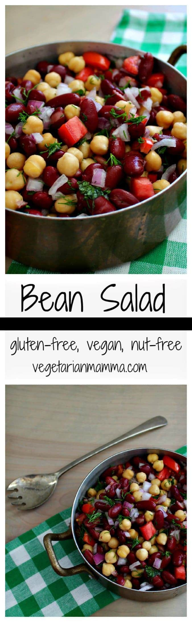 Bean Salad - #glutenfree #nutfree #vegan #salad #beans @vegetarianmamma.com