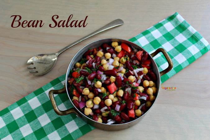 Bean Salad - #glutenfree #vegan #nutfree #vegetarian @vegetarianmamma.com