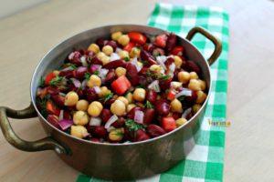 Bean Salad - #vegan #glutenfree #nutfree #vegetarian #salad @vegetarianmamma.com