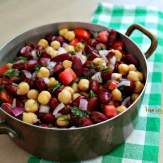 Bean Salad – a side dish that boasts the flavor of fresh herbs