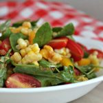 Corn Arugula Salad – blending the flavors of fresh sweet corn and leafy greens