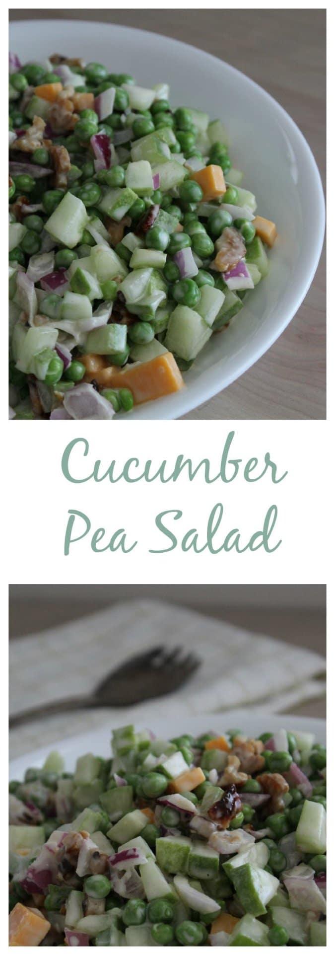 Cucumber Pea Salad @vegetarianmamma.com #vegetarian #cucumber #pea #salad #glutenfree