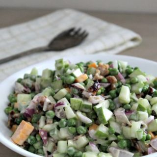 Cucumber Pea Salad – a refreshing salad for your dinner table