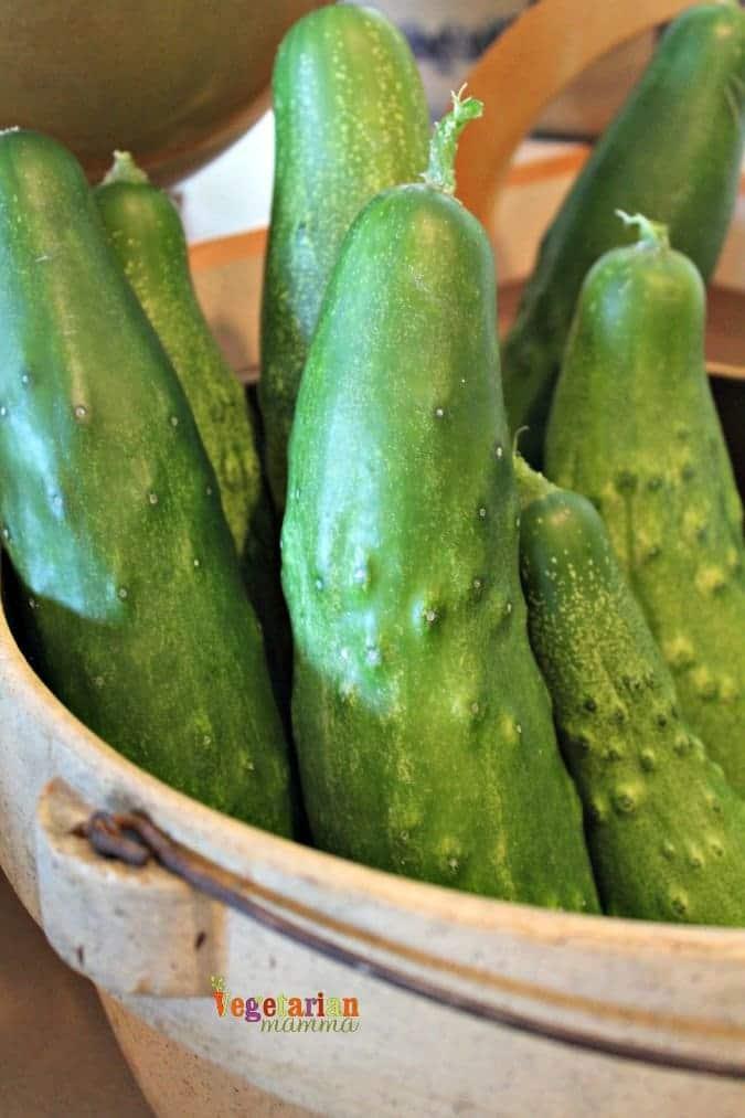 Cucumber Pea Salad #glutenfree #salad #summer #garden @vegetarianmamma.com