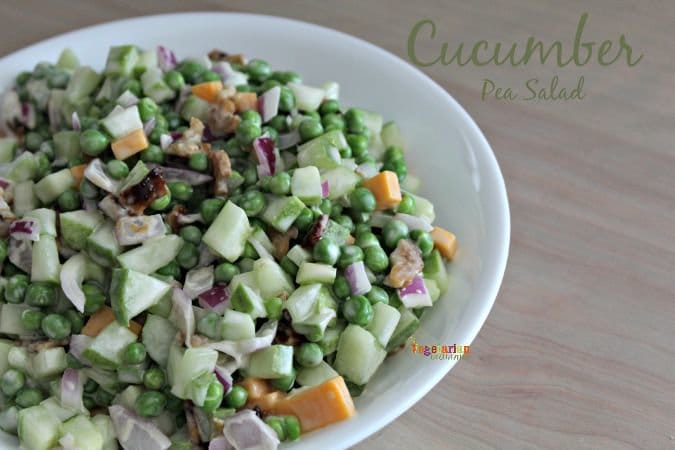 Cucumber Pea Salad #pea #glutenfree #salad @vegetarianmamma.com