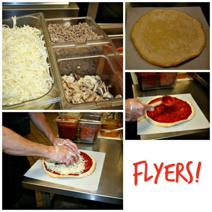 Flyers dough and ingredients