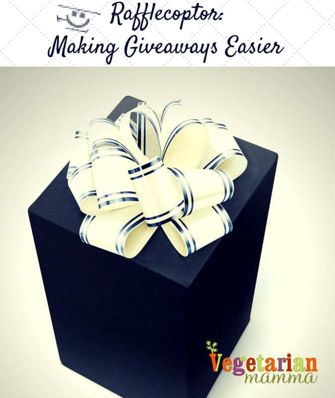 Rafflecoptor Making Giveaways Easier @vegetarianmamma.com