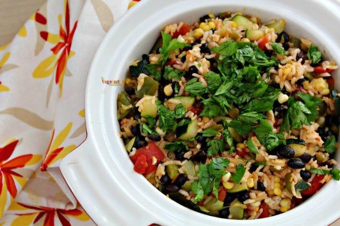 Southwest Zucchini Casserole - #glutenfree #zucchini #nutfree @vegetarianmamma.com