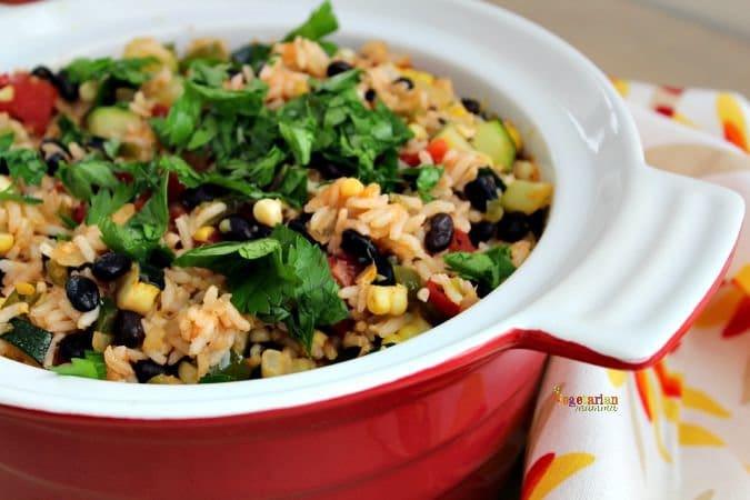 Southwest Zucchini Casserole - #zucchini #glutenfree #vegan #nutfree #casserole @vegetarianmamma.com