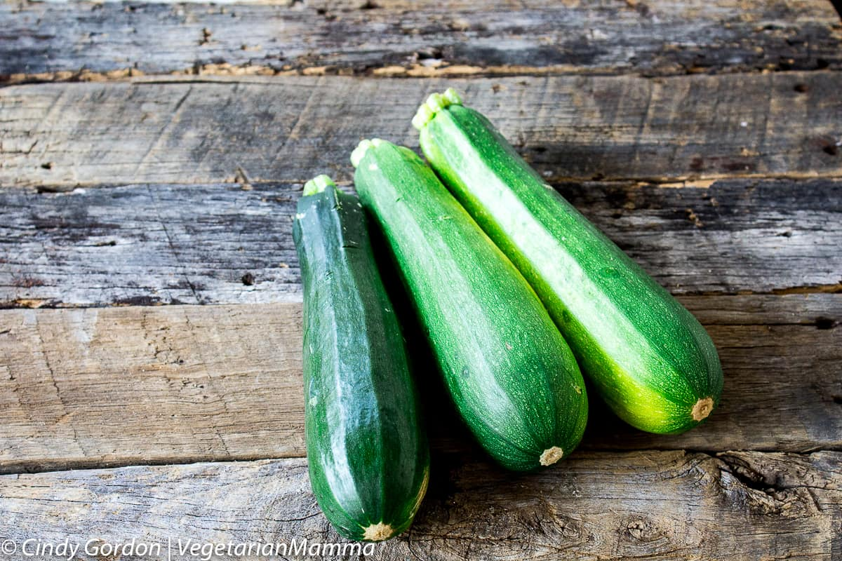 three zucchini to make zucchini sandwich with