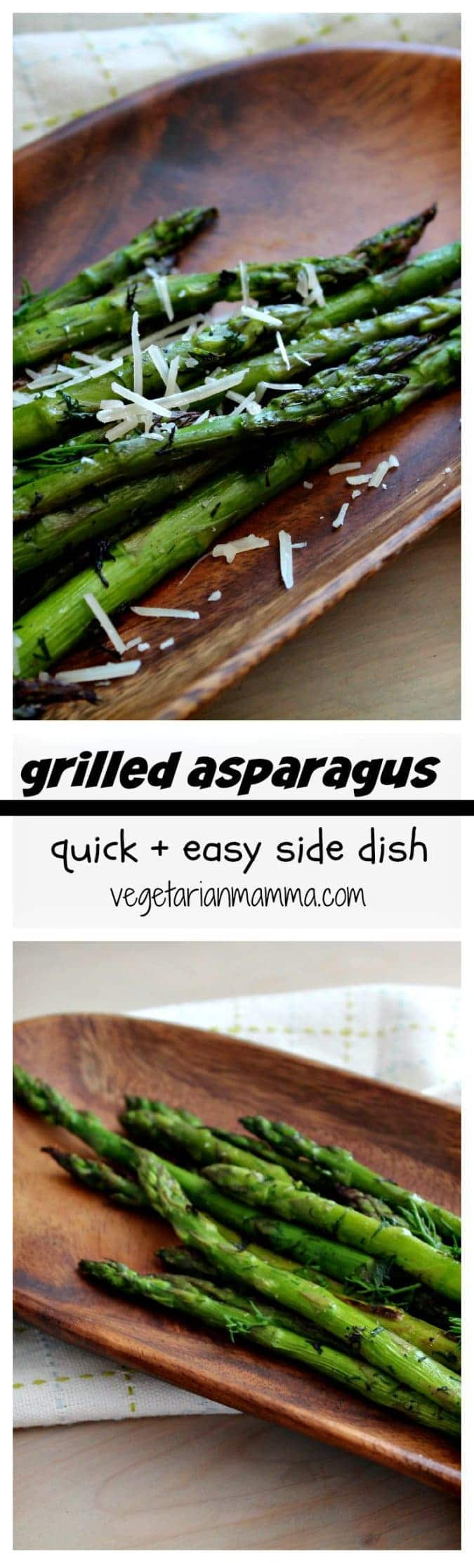 Grilled Asparagus - #glutenfree #grilling #vegetarian #asparagus @vegetarianmamma.com