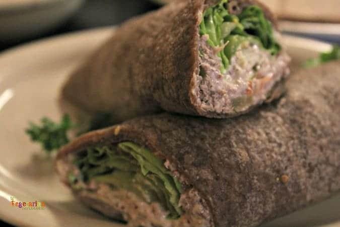 Portia's Cafe Columbus - NoTuna wrap