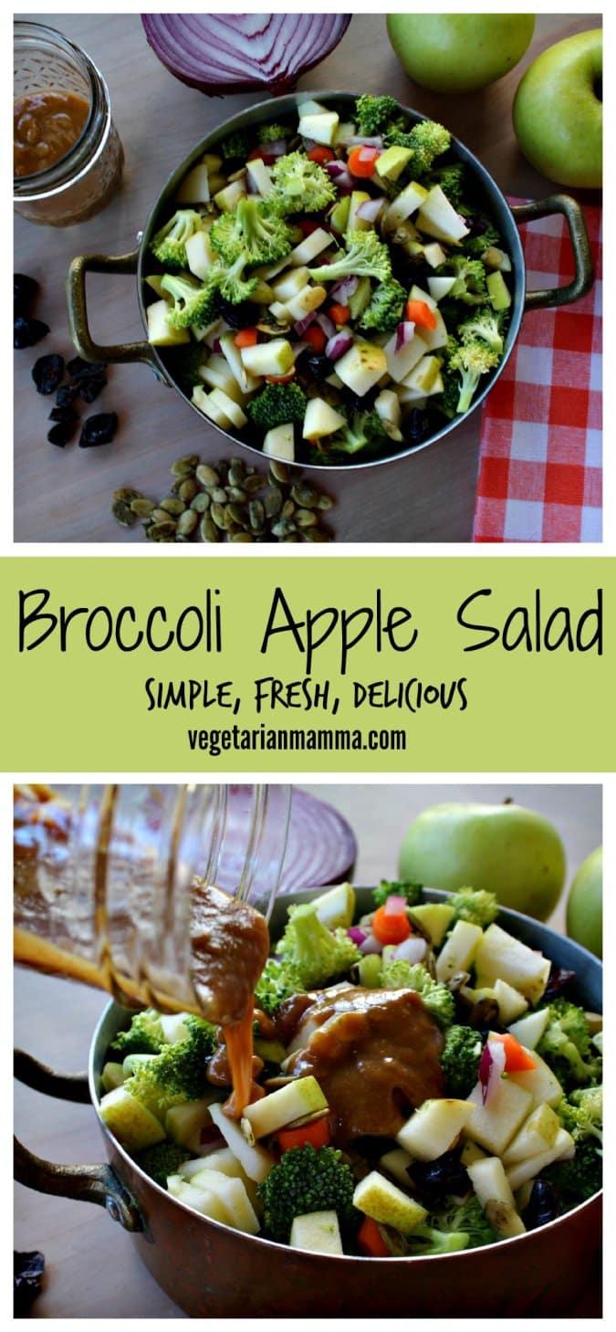 Broccoli Apple Salad vegetarianmamma.com #glutenfree #nutfree #dairyfree #vegetarian #salad #sidedish