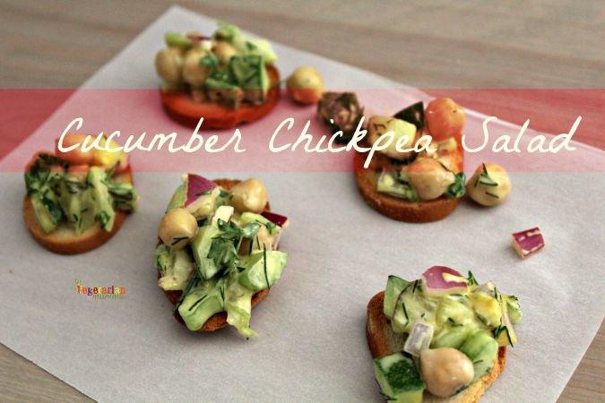 Cucumber Chickpea Salad #glutenfree #vegan #salad @vegetarianmamma.com