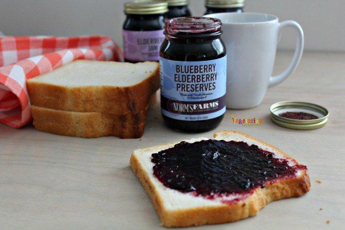 Norm Farms Elderberry Preserves @vegetarianmamma.com