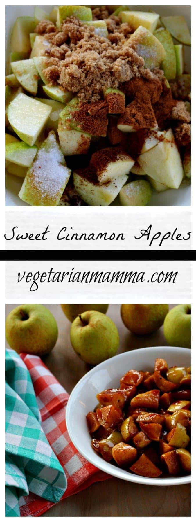 Sweet Cinnamon Apples #glutenfree @vegetarianmamma.com #dairyfree #nutfree #dessert #apple #apples @cinnamon #sweet