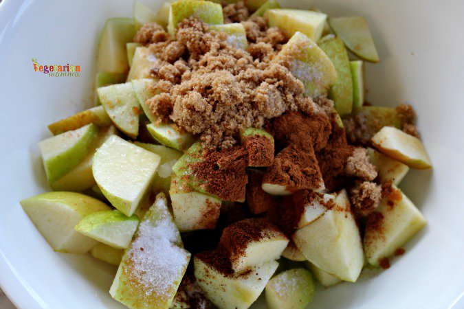 Sweet Cinnamon Apples #glutenfree @vegetarianmamma.com #dairyfree #nutfree