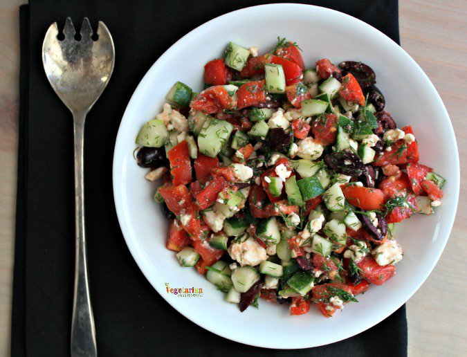 Tomato Cucumber Salad @vegetarianmamma.com #salad #glutenfree