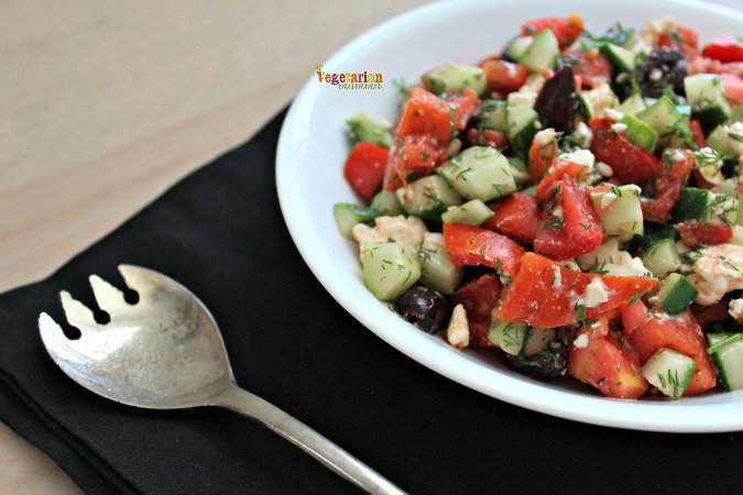 Tomato Cucumber Salad @vegetarianmamma.com