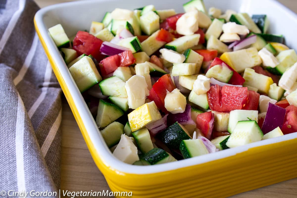 Zucchini Bake - How to make a casserole with zucchini and summer squash