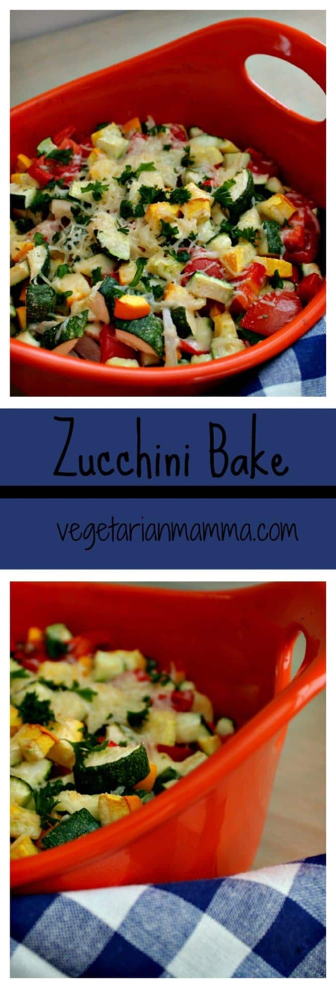 Zucchini Bake #Casserole #glutenfree @vegetarianmamma.com #Zucchini #SummerSquash #Tomato #Sidedish #vegetarian