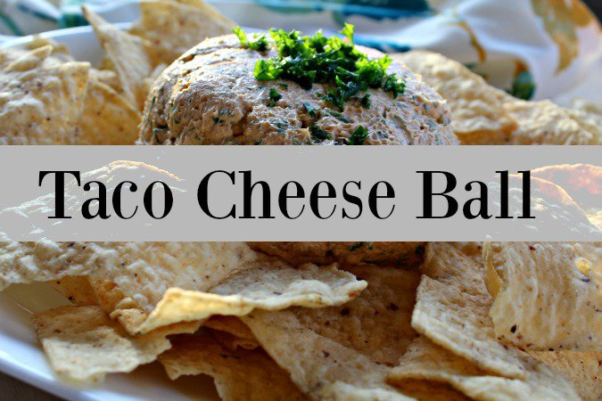 Nut Free taco cheese ball appetizer