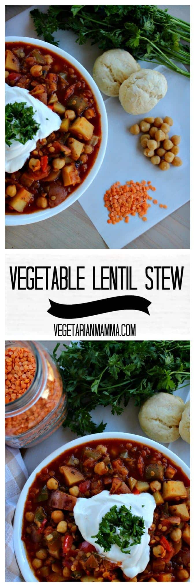 Vegetable Lentil Stew @vegetarianmamma.com #glutenfree #nutfree #dairyfree #stew #vegetarian #vegetable