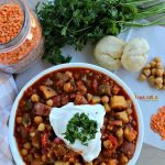 Vegetable Lentil Stew + Red Gold Farm Tour