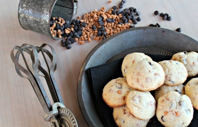 Chocolate Chip Butterscotch Cookies @Vegetarianmamma.com