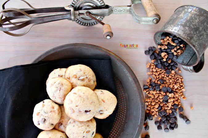 Chocolate Chip Butterscotch Cookies #glutenfree @vegetarianmamma.com