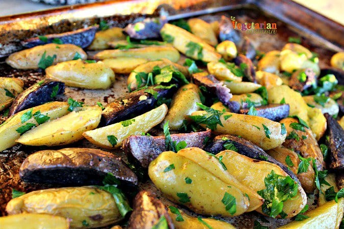 Roasted Potatoes @vegetarianmamma.com