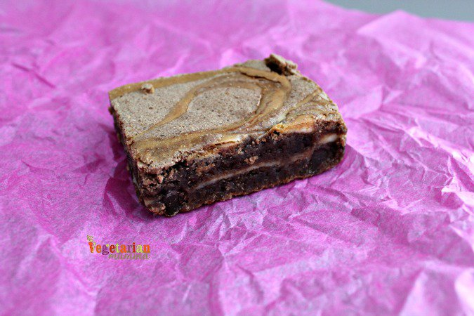 Allies Gf Goodies @vegetarianmamma.com Chocolate Chunk Cheesecake Brownie