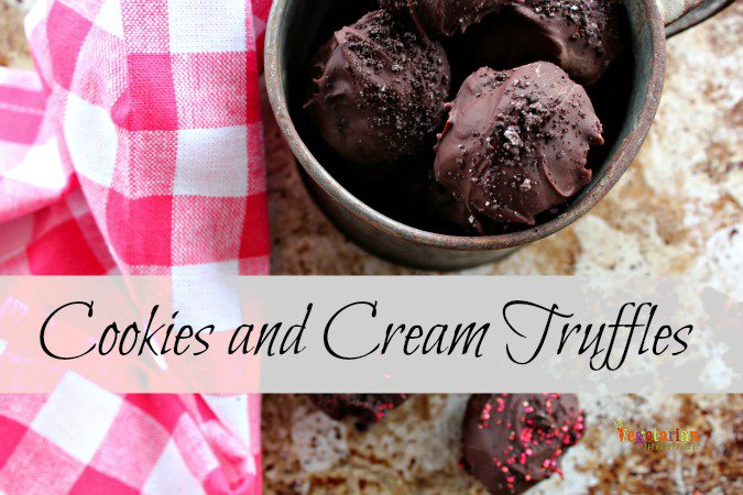 Cookies and Cream Truffles #glutenfree @vegetarianmamma.com