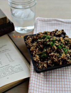 Mushroom Asparagus Wild Rice @vegetarianmamma.com #mushroom #glutenfree