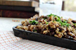 Mushroom Asparagus Wild Rice @vegetarianmamma.com #pilaf #glutenfree