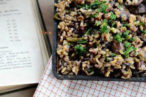 Mushroom Asparagus Wild Rice @vegetarianmamma.com