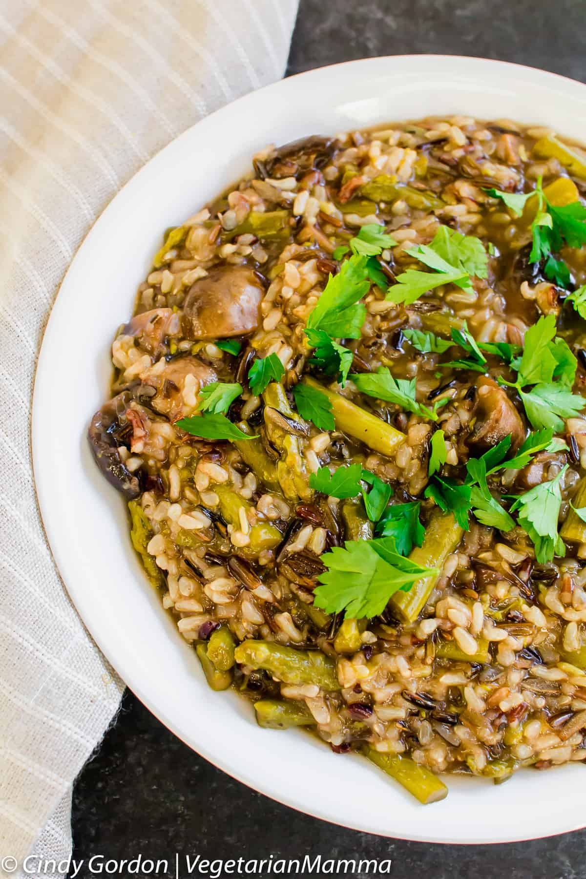 Mushroom and Asparagus Wild Rice