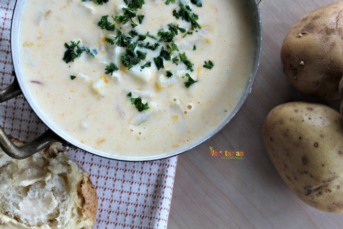 Rustc Potato Soup @vegetarianmamma.com #glutenfree