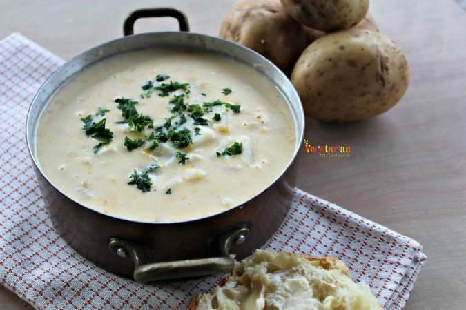 Rustc Potato Soup @vegetarianmamma.com #soup