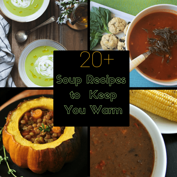 20+ Soup Recipes @vegetarianmamma.com
