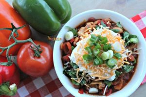 Spicy Vegetarian Chili – perfect for game day!