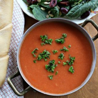 Creamy White Bean Tomato Soup – perfect for any time of the year!