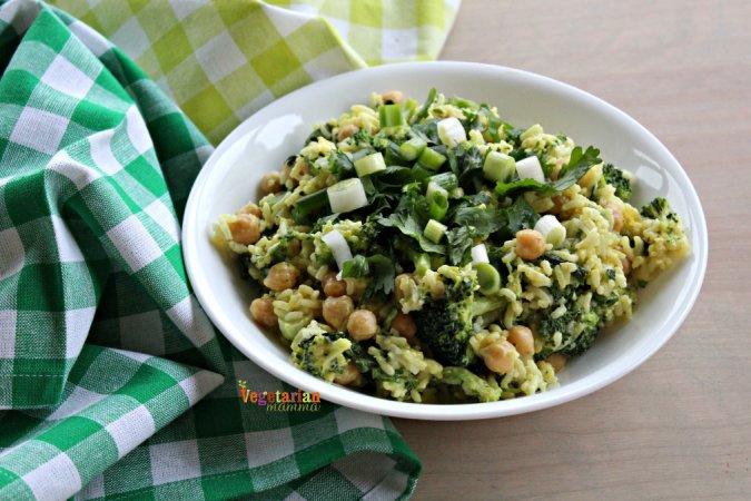 Honey Mustard Broccoli Bowl @vegetarianmamma.com 3