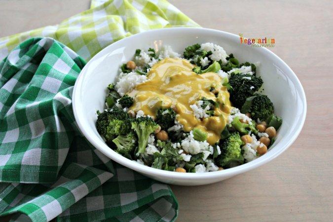 Honey Mustard Broccoli Bowl @vegetarianmamma.com 3(2)